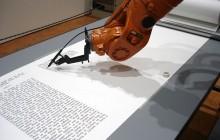 Kalligrafirobot skriver bibel