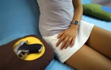 En kudde med ficka