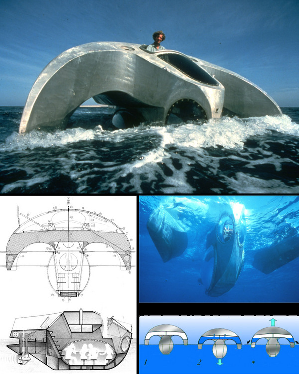 Aquascope - underwater observation trimaran