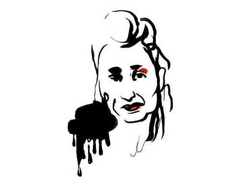 Elfiede Jelinek / Illustration: Stina Wirsen