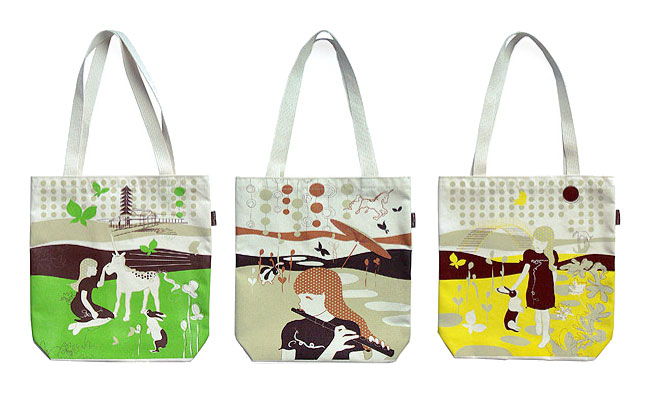 Mel Lim - Recycled cotton totes