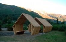 Vackert vindskydd i Anderna
