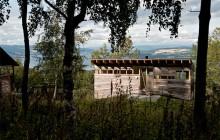 Vackert trähus av JVA
