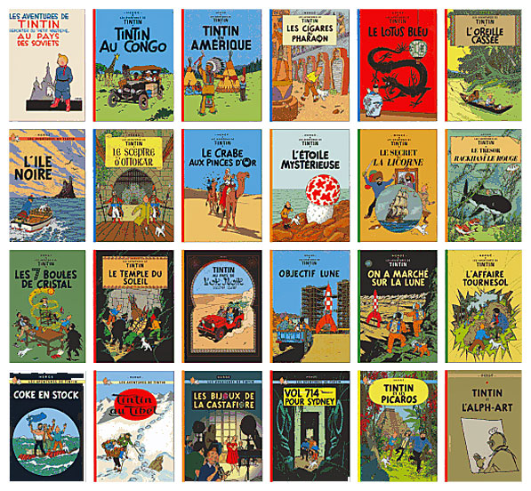 24 album med Tintin