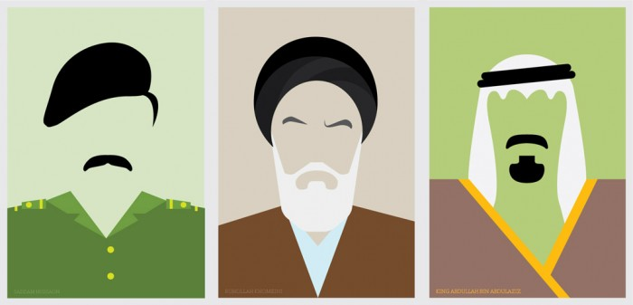 Saddam Hussein / Ruhollah Khomeini / King Abdullah Bin Abdulaziz