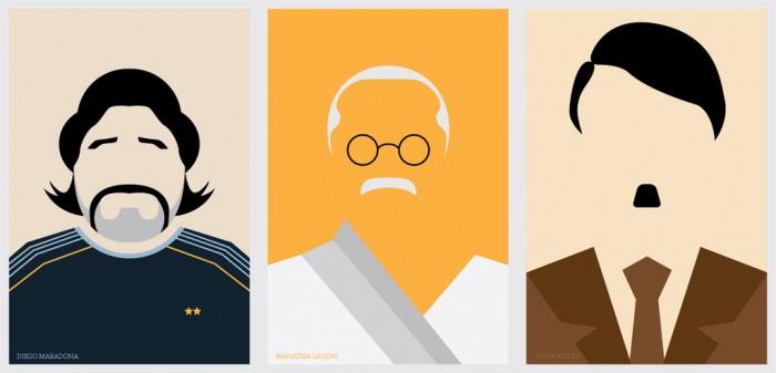 Diego Maradona / Mahatma Gandhi / Adolf Hitler